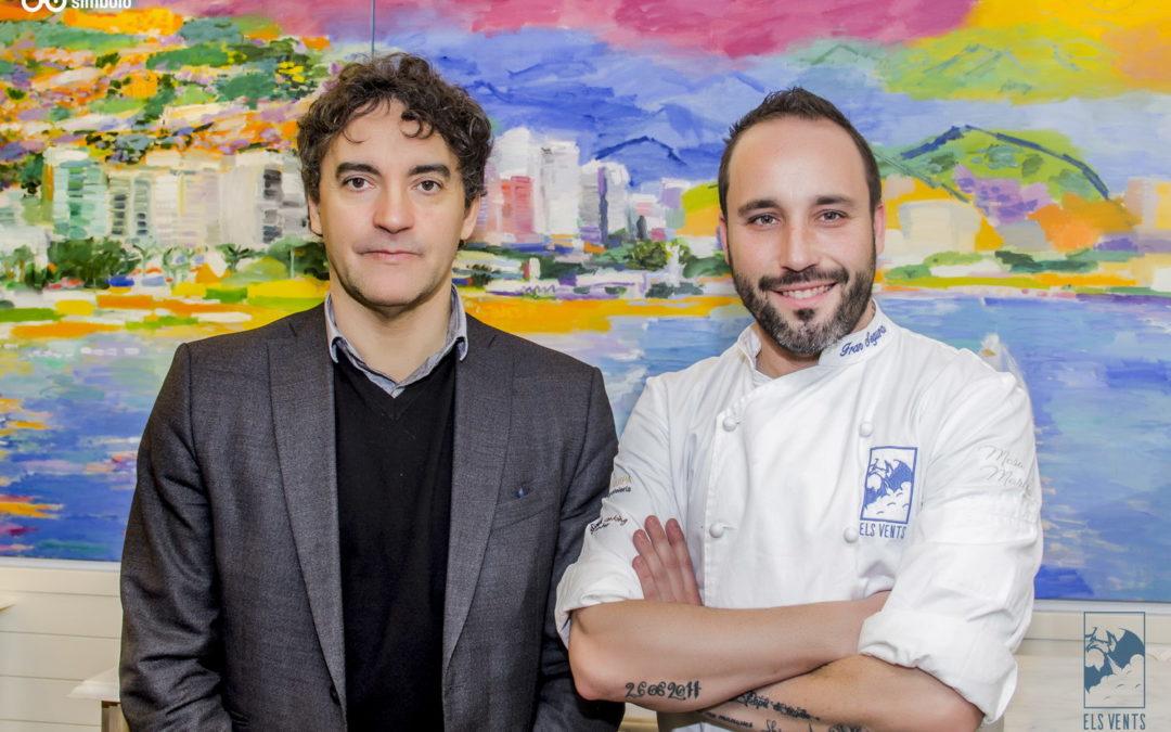 Francesc Colomer felicitó a Fran Segura en el Restaurante Els Vents